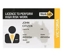 Worplace safety licence