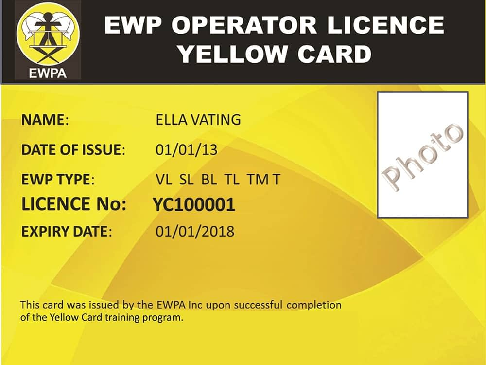 EWP yellow card