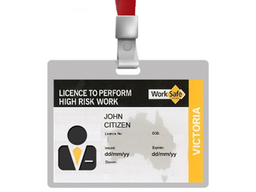 license to perform high risk work