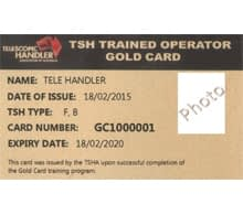 telehandler gold card